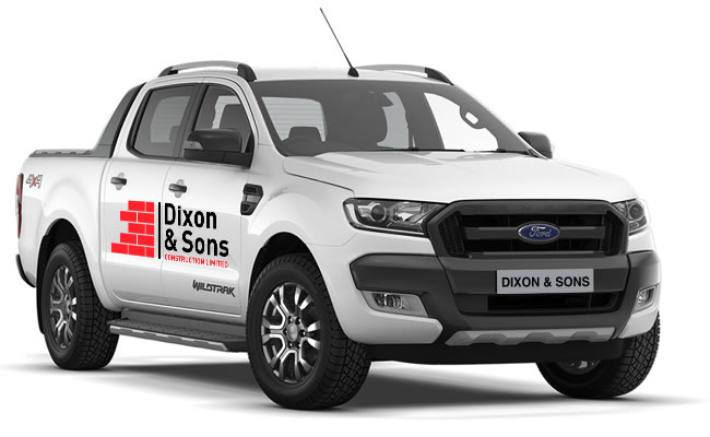 Dixon and Sons Builders Bedford Van
